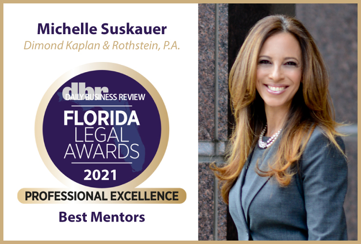 image of Michelle Suskauer with 2021 Florida Legal Awards Daily Business Review badge